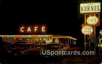 Kernel Restaurant - Menomine, Wisconsin WI Postcard