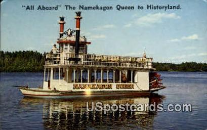 Namekagon Queen - Hayward, Wisconsin WI Postcard