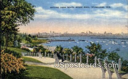 Shore Park - MIlwaukee, Wisconsin WI Postcard