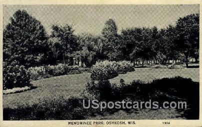 Menominee Park - Oshkosh, Wisconsin WI Postcard