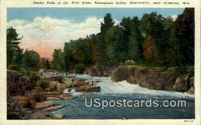 Smoky Falls - Shawano, Wisconsin WI Postcard