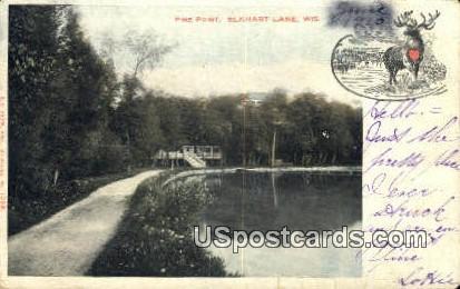 Pine Point - Elkhart Lake, Wisconsin WI Postcard