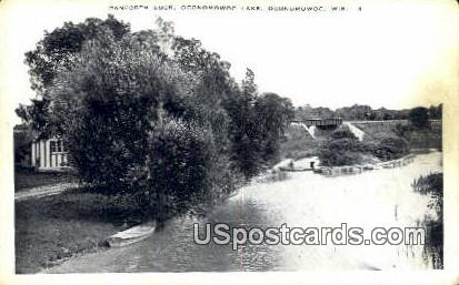 Danforth Lock, Oconomowoc Lake - Wisconsin WI Postcard