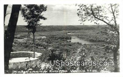 Wisconsin & Mississippi Rivers - Wyalusing Postcard