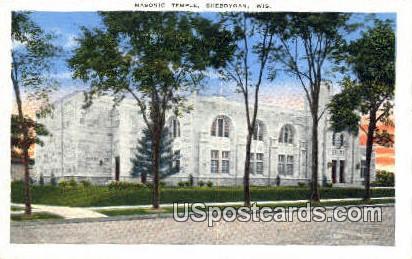 Masonic Temple - Sheboygan, Wisconsin WI Postcard