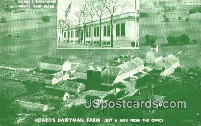 Hoard's Dairyman Farm - Jefferson County, Wisconsin WI Postcard
