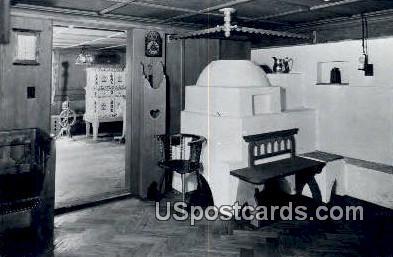Sube (living room), Waelderhaus - Kohler, Wisconsin WI Postcard