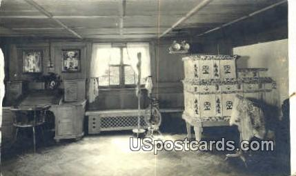 Werkzimmer (workroom), Waelderhaus - Kohler, Wisconsin WI Postcard