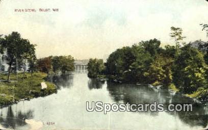 River Scene - Beloit, Wisconsin WI Postcard
