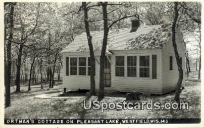 Ortman's Cottage, Pleasant Lake - Westfield, Wisconsin WI Postcard
