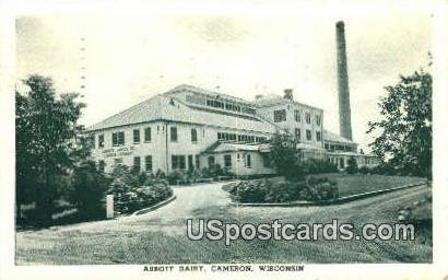 Abbott Dairy - Cameron, Wisconsin WI Postcard