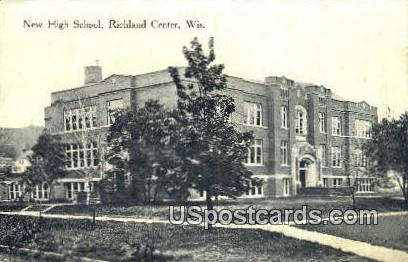 New High School - Richland Center, Wisconsin WI Postcard
