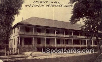 Bryant Hall - Wisconsin Veterans Home Postcards, Wisconsin WI Postcard
