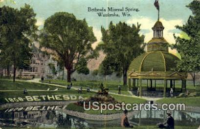 Bethesda Mineral Spring - Waukesha, Wisconsin WI Postcard