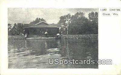 Lake Chetek - Wisconsin WI Postcard
