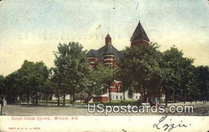 Court House Square - Wausau, Wisconsin WI Postcard