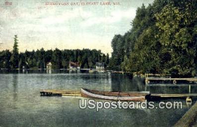 Sheboygan Bay - Elkhart Lake, Wisconsin WI Postcard