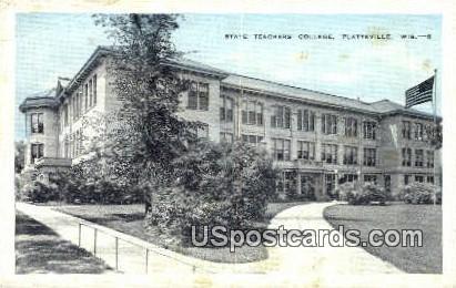 State Teachers College - Platteville, Wisconsin WI Postcard