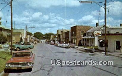 Downtown Business District - Westfield, Wisconsin WI Postcard