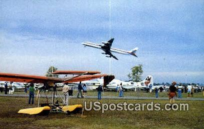 War Bird fly by - Oshkosh, Wisconsin WI Postcard