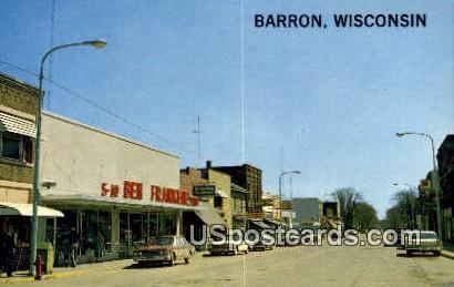 La Salle Avenue - Barron, Wisconsin WI Postcard