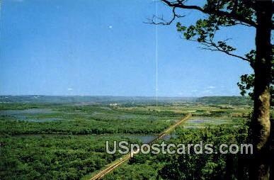 Wisconsin River - Prairie Du Chien Postcard
