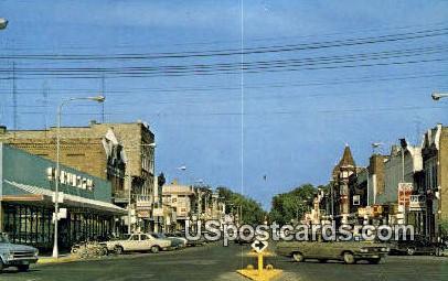 Downtown Reedsburg, Wisconsin     ;     Downtown Reedsburg, WI Postcard