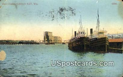 Boat Docks - Green Bay, Wisconsin WI Postcard