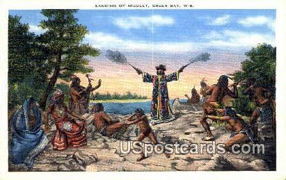 Landing of Nicolet - Green Bay, Wisconsin WI Postcard