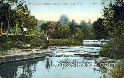Bairds Creek - Green Bay, Wisconsin WI Postcard