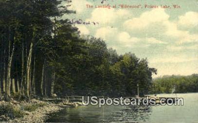Landing at Wildwood - Pelican Lake, Wisconsin WI Postcard