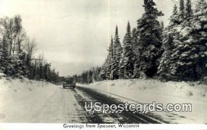 Northwoods - Spooner, Wisconsin WI Postcard