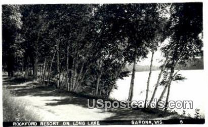 Rockford Resort, Long Lake - Sarona, Wisconsin WI Postcard