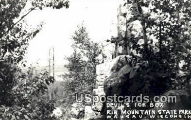 Devil's Ice Box, Rib Mountain State Park - Wausau, Wisconsin WI Postcard