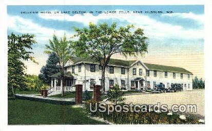 Dellview Hotel, Lake Delton - Kilbourn, Wisconsin WI Postcard