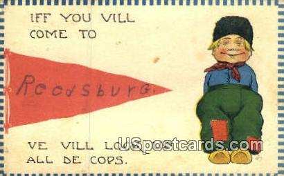 Reedsburg, WI     ;     Reedsburg, Wisconsin Postcard