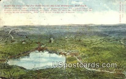 Fox River Valley - Lake Winnebago, Wisconsin WI Postcard