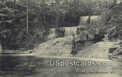 Lamb Creek Falls - Menominee, Wisconsin WI Postcard