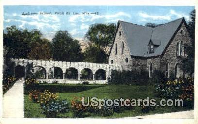 Ambrose School - Fond du Lac, Wisconsin WI Postcard