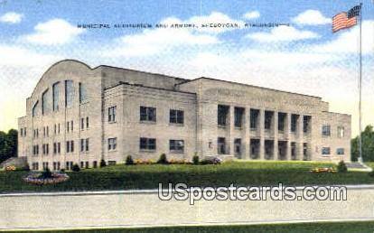 Municipal Auditorium & Armory - Sheboygan, Wisconsin WI Postcard