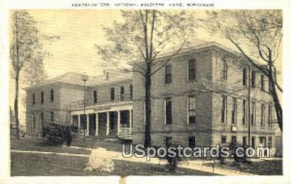 Headquarters - National Soldiers Home, Wisconsin WI Postcard