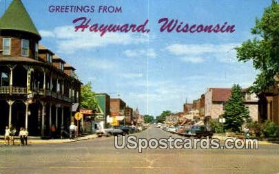 Muskie Capitol of the World - Hayward, Wisconsin WI Postcard