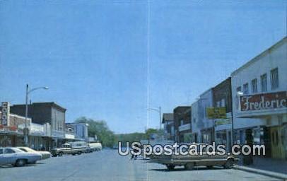 Polk County, Resort Area - Frederic, Wisconsin WI Postcard