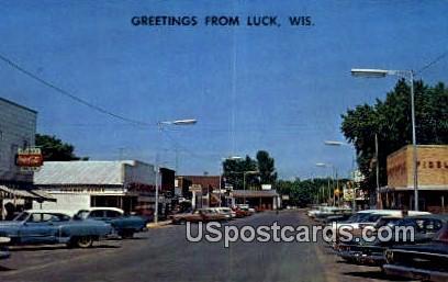Polk County, Resort Area - Luck, Wisconsin WI Postcard