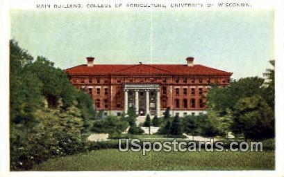 College of Agriculture, U of Wisconsin - Madison Postcard