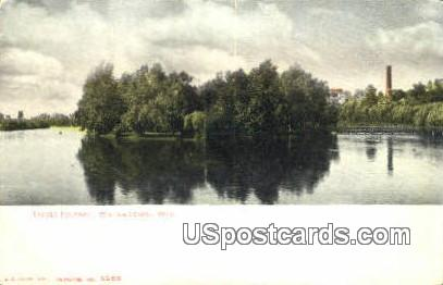 Tivoli Island - Watertown, Wisconsin WI Postcard