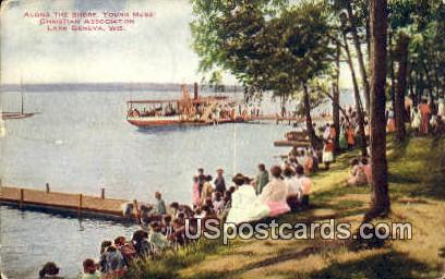 Young Men's Christian Association - Lake Geneva, Wisconsin WI Postcard