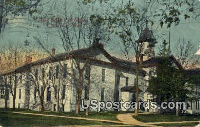 State School fo Mines - Platteville, Wisconsin WI Postcard
