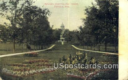 Mendota Hospital for Insane - Madison, Wisconsin WI Postcard
