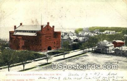Gymnasium & Lower Campus - Madison, Wisconsin WI Postcard
